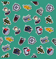 bank icons pattern vector image vector image