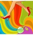 beautiful woman legs vector image