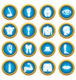 body parts icons blue circle set vector image vector image