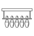 bowling pins ready icon outline style vector image vector image