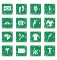 brazil travel symbols icons set grunge vector image vector image