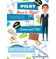 career pilot hiring aviator recruitment vector image vector image