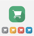 cart flat icon vector image vector image