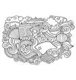 china hand drawn cartoon doodles vector image