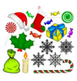christmas icon symbol design isolated on white vector image vector image