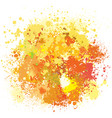 color background paint splashes vector image