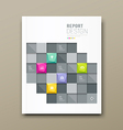 Cover Magazine Modern squares template vector image