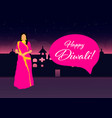 creative diwali festival template design happy vector image