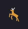 Deer computer symbol vector image vector image