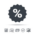 discount icon sale offer star sign vector image vector image