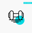 dumbbell fitness gym lift turquoise highlight vector image