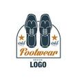 footwear logo design estd 1963 vintage badge for vector image vector image