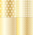 gold geometrics vector image vector image