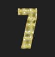 gold sequins number - seven glitter font vector image
