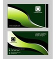 Green business card vector image vector image