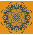 Hand drawn ethnic circular beige ornament Mandala vector image