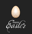 happy easter decorated egg with vintage lettering vector image vector image