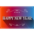 Happy New Year Slogan vector image
