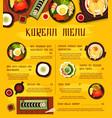 korean cuisine menu template meals korea