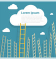 ladder to clouds vector image vector image