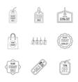 Large discounts icons set outline style vector image vector image