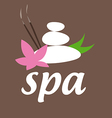 logo stones with flower for spa salon vector image
