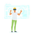 man in virtual reality glasses vector image vector image