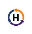 management process letter h vector image vector image