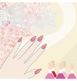 manicure - abstract card vector image