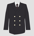 Military coat uniform vector image vector image