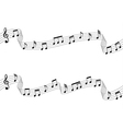 Musical chords flowing ribbon style vector image vector image