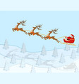new year christmas figure of santa claus riding vector image