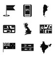 paving the way icons set simple style vector image vector image