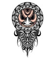 polynesian tattoo design mask vector image