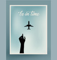 postcard design airplane vector image