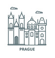 prague sign line icon linear concept vector image vector image