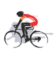 Road cycling competitor vector image vector image