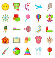 schoolchildren icons set cartoon style vector image