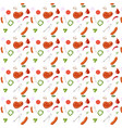 seamless barbeque pattern in with meat vector image vector image