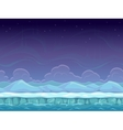 Seamless cartoon arctic landscape vector image