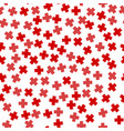 seamless red plus sign pattern vector image vector image