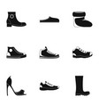 sewing shoes icons set simple style vector image vector image