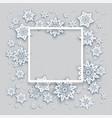 snowflakes christmas frame vector image vector image