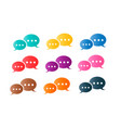 speech message communication colorful set vector image