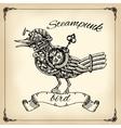steampunk bird vector image vector image