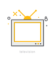 Thin line icons Television vector image