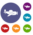toy plane icons set vector image vector image