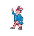 Uncle Sam American Pointing Up Cartoon vector image