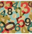 Vintage numbers pattern vector image