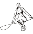 Young woman with a rope vector image